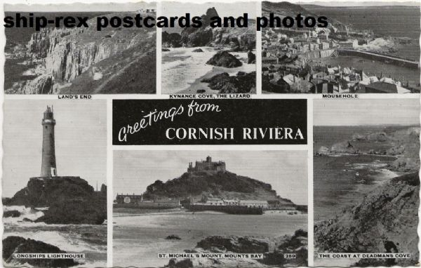 Cornish Riviera, multi-view postcard